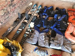Life Jackets, Ski's, Ski Rope and Tube