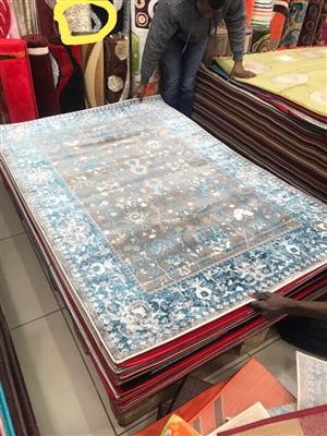 Blue and grey persian carpet for sale