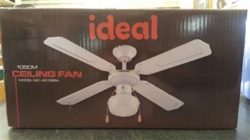 Ceiling Fan Ideal 105 cm  Brand new   In Prestine Working Condition