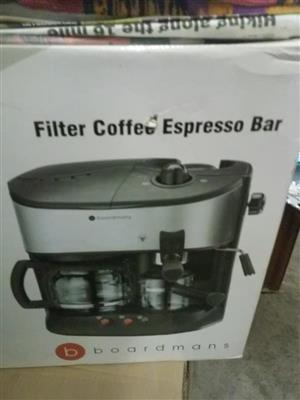 Nuwe koffie masjin Jan baie doen