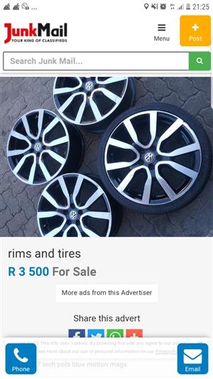 mag wheels and tires for sell