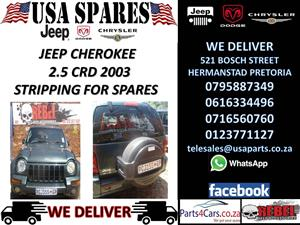JEEP CHEROKEE 2.5 CRD 2003 STRIPPING FOR SPARES