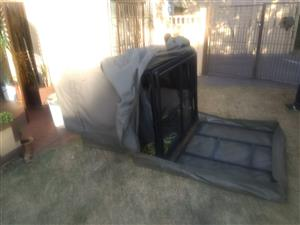 Double cab Canvas canopy with extender