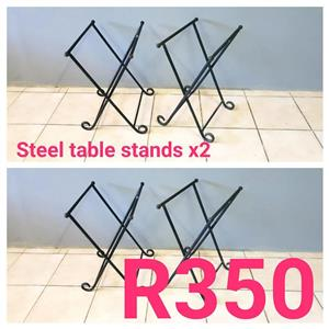 STEEL TABLE STANDS FOR SALE