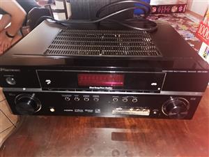 Wharfedale sw380 bass bin.   2 wharfedale xarus 5000 speakers   Pioneer VSX-819H-K amplifier