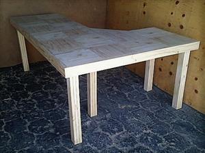 Study desk Farmhouse series 2100 L Shape Raw