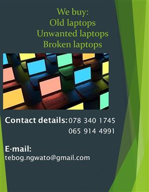 We buy laptops