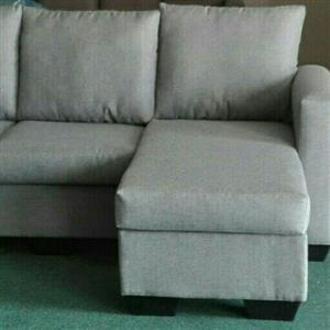 Brand new  grey L shape couch to clear