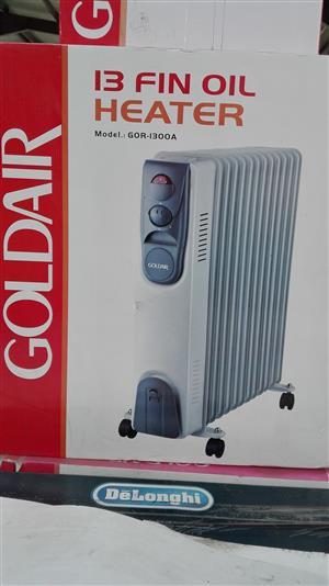 GOLDAIR GOR-1300A 13 FIN OIL HEATER - NEW