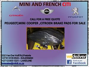 Citroen Peugeot and mini cooper brake pads for sale