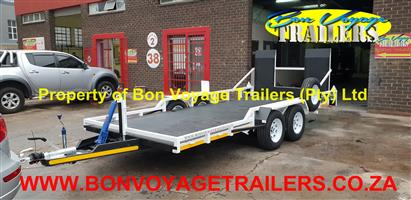 5 Meter Car Trailer with Plate Floor For Sale