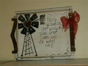 Windmill serving tray / Serving tray / farmhouse serving tray / kitchen decor / tray / rustic kitchen tray