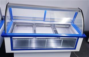 MEAT DISPLAY FRIDGE - BUTCHERY DISPLAY FRIDGE - CURVED GLASS DELI DISPLAY SHOWCASE - DISPLAY COOLER