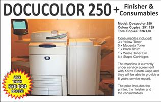 Docucolor 250 + finisher