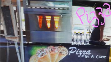PIZZA in a CONE machine