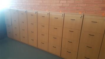 Oak 4 drawer filling cabinet