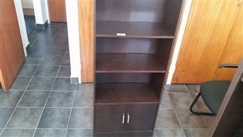 Mahogany finish bookshelf