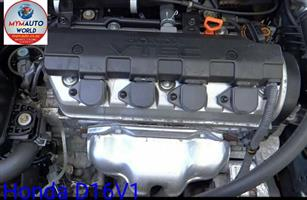 Complete Second hand used engines, Honda D16V1, Honda civic 1.6L, Complete second hand used engines, Alberton, vereeniging, Va de Bijl, Soweto, Johannesburg, Gauteng, South Rand.  www.mymauto.co.za