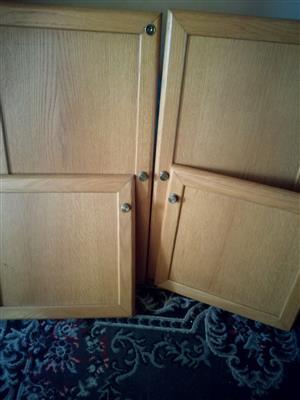 Cupboard doors includes brackets