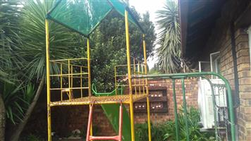 Steel frame jungle gym