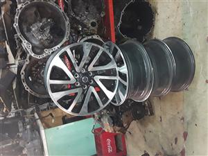 Nissan navara size 18 inch set of mag rims for sale