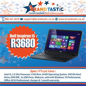 Dell Inspiron 3520 i5 Laptop & Charger @ R3680