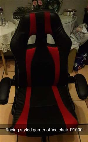 Racing styled gamer office chair