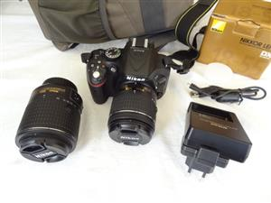 NIKON D5200 with New Spec Twin Lens Like New