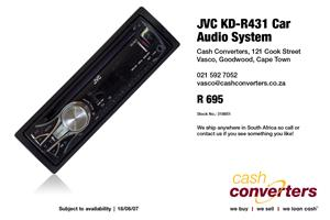 JVC KD-R431 Car Audio System