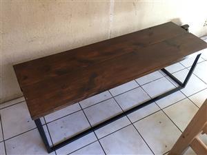 Rustic modern bench