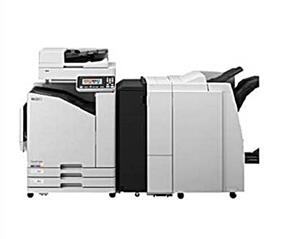 Ultra high-speed multi-function printer with finisher: Riso ComColor black FW 1230