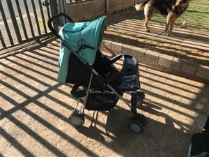 Pram , Carry seat , Chest of drawers with baby bath and camp cot all for one price