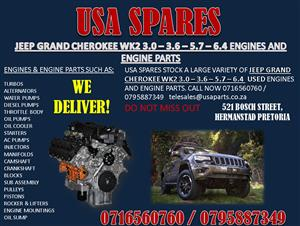 JEEP GRAND CHEROKEE WK2 3.0 3.6 5.7 6.4 ENGINES AND ENGINE PARTS.
