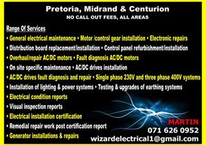 Centurion Local Area Electricians 0716260952 (No Call Out Fee)