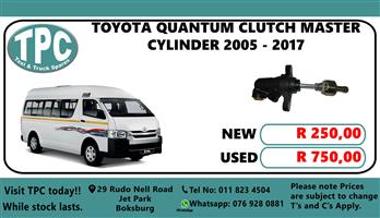Toyota Quantum Clutch Master Cylinder 2005 - 2017 - For Sale at TPC