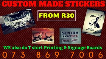 QUALITY!! T Shirt Printing - Signage Boards - Custom Stickers
