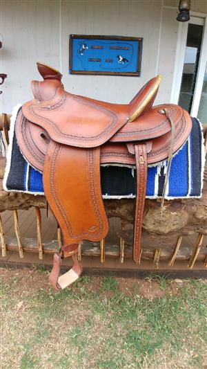 Stunning Butch Cassidy western saddle