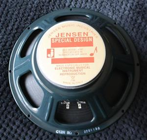 Jensen 12 inch Guitar Speaker 8 Ohm