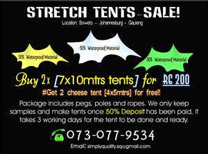 STRETCH TENT PACKAGE SPECIAL