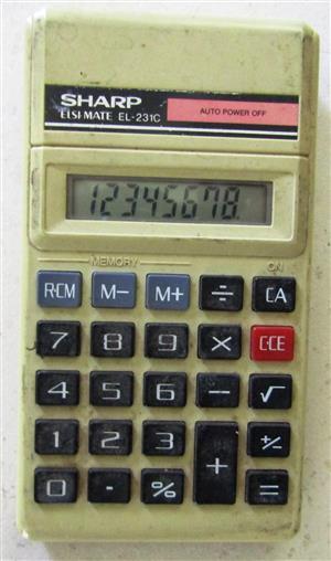 Sharp Elsimate Elsi Mate EL-231C Pocket Calculator