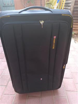 x2 Black SaberLegend Travelling Suitcases, used once