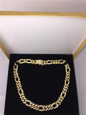 Figaro Link Chain/Choker/Necklace/Neckchain