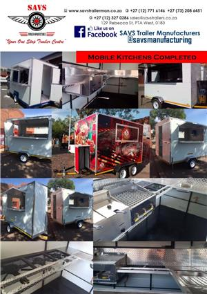 Mobile kitchens & freezers for sale