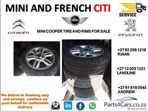 Mini cooper rims and tyers for sale
