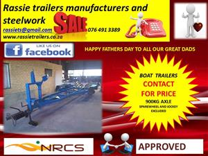 Boat trailers for sale sabs approved comes with dealer stock papers contact us for size and price