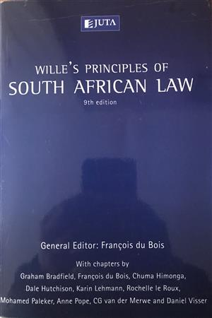 WILLE'S PRINCIPLES OF SOUTH AFRICAN LAW