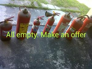 Empty fire extinguishers