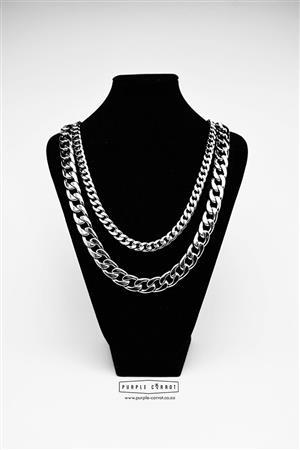 10mm Men's Curb Cuban Links Set (Necklace and Bracelet)