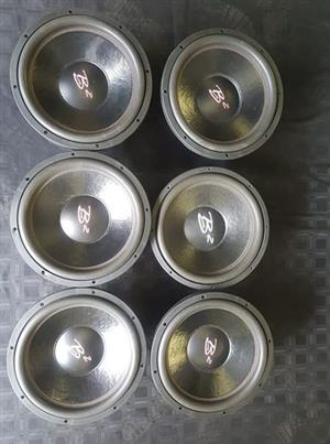 6x15s b2 audio woofers
