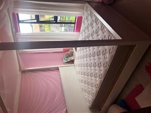 Queen size Bed and Mattress with bedside table for sale